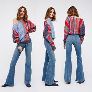 Free People  Pull-On Flare Jeans